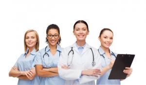 group of female nurse